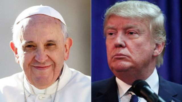 pope vs trump