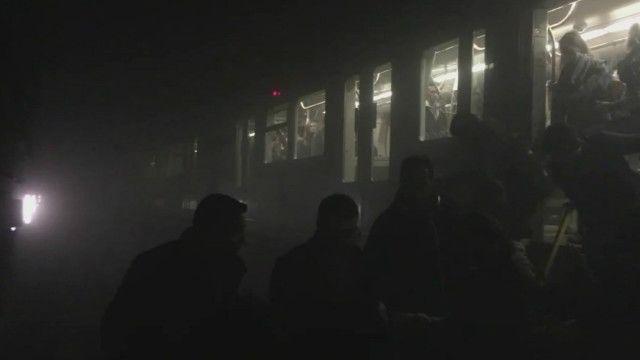 Любительские кадры после взрыва в метро
