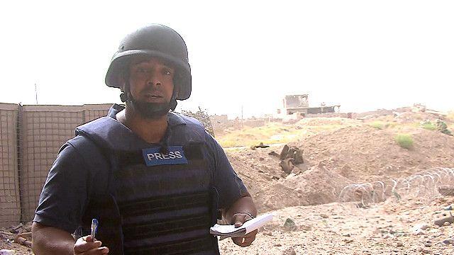 بي بي سي عند أطراف مركز مدينة الفلوجة بعد استعادة القوات العراقية السيطرة عليها