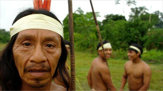 Los huaoranis, pueblo de la selva amazónica ecuatoriana. Todas las fotos de Keith Morris, BBC