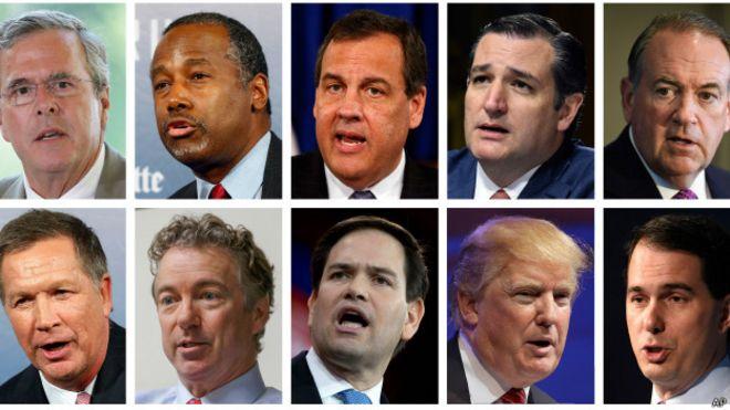 Precandidatos republicanos en debate