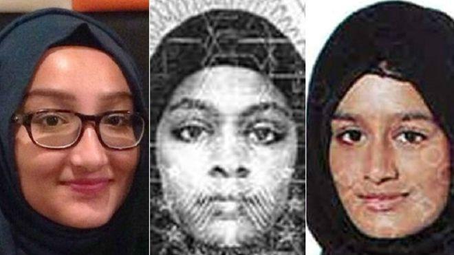 Kadiza Sultana, 16, Amira Abase, 15, e Shamima Begum, 15 (Foto: Divulgação)