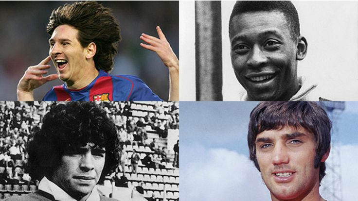 Messi, Pelé, Maradona y Best