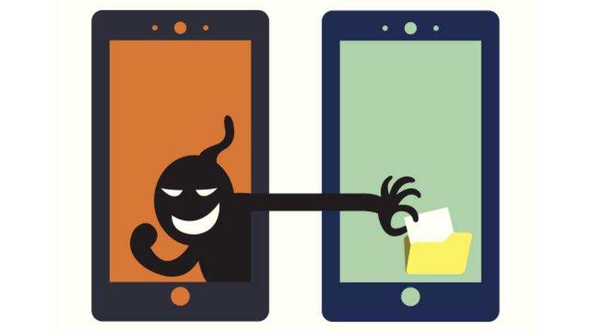 Ilustración de robo de celular