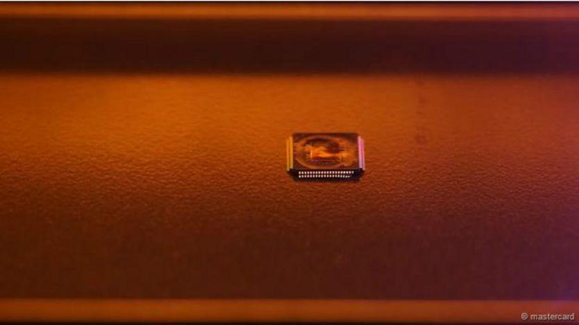 Un chip de tarjeta