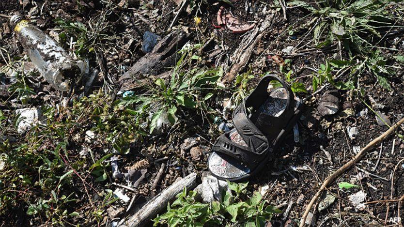 Calzado hallado en Iguala, Guerrero